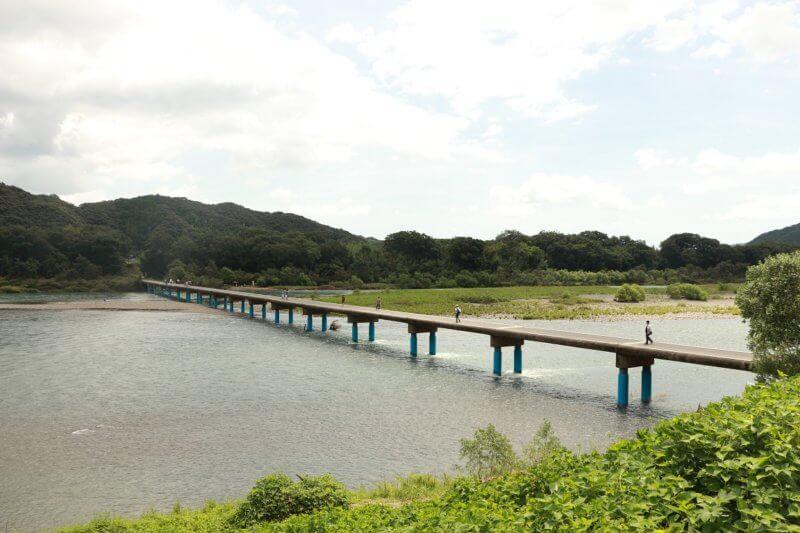 四万十川の高瀬沈下橋