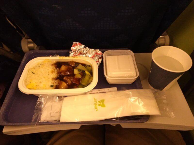 ジンエアーの機内食